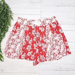 Free People Shelia High Waisted Rayon Shorts